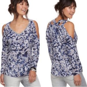 NWOT Juicy Couture Blue Sequence Pattern Top